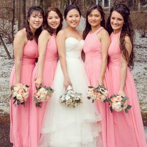 Pink Azazie bridesmaid's dress